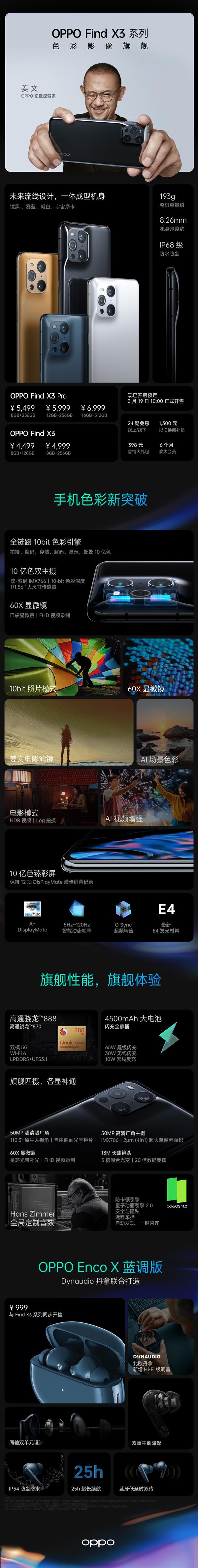 一图看懂Find X3/X3 Pro手机:降价1000元值得买吗?