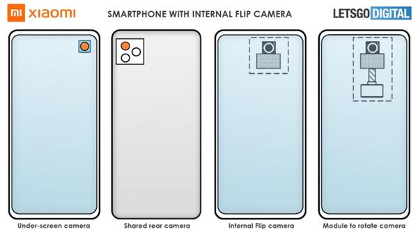 全面屏最佳方案!小米屏下旋转式摄像头专利曝光