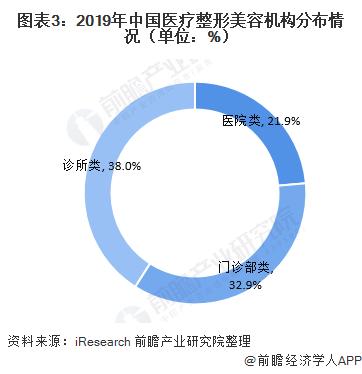 圖表3:2019年中國醫療整形美容機構分布情況(單位:%)