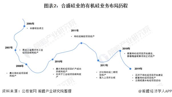图表2:合盛硅业的有机硅业务布局历程
