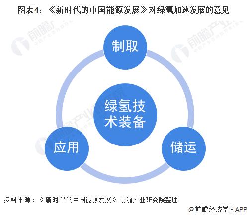 图表4:《新时代的中国能源发展》对绿氢加速发展的意见