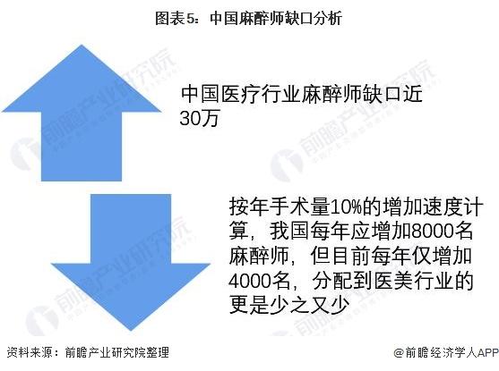 图表5:中国麻醉师缺口分析