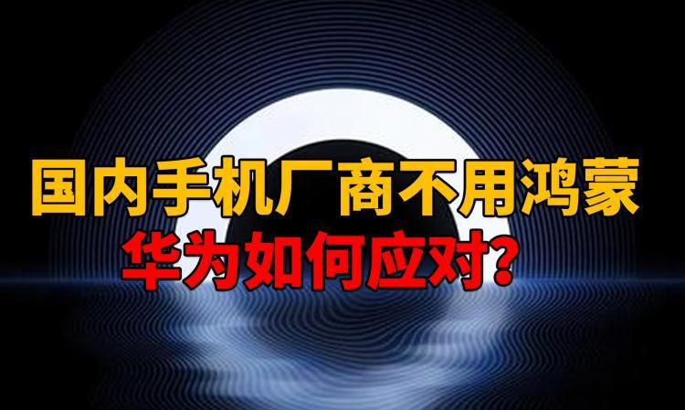 国内手机厂商不用鸿蒙,华为如何应对?