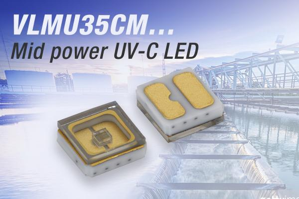 Vishay推出具有极长寿命的短波紫外线发光二极管