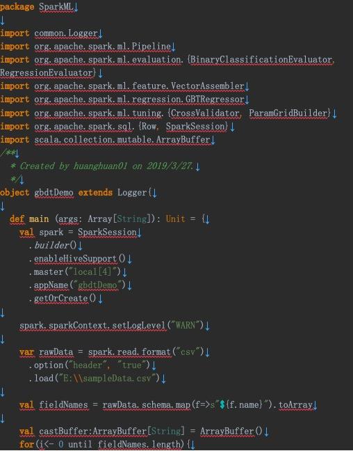 SparkMLlib GBDT算法工业大数据实战