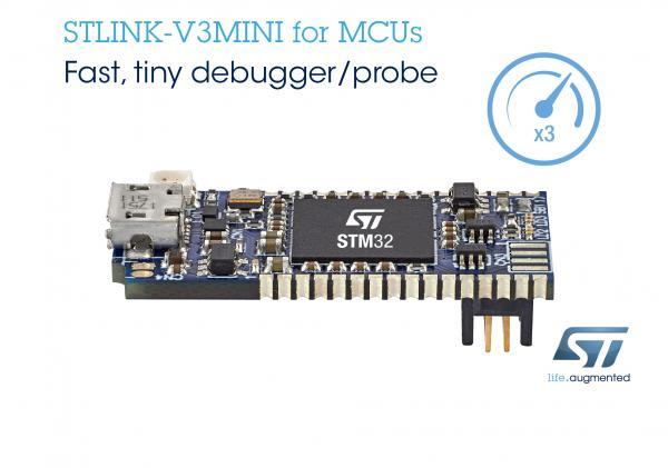 意法半导体推出袖珍、方便的STLINK-V3MINI调试探头,加快STM32应用开发