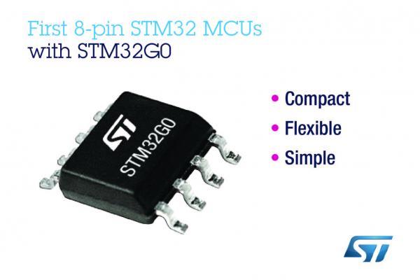 意法半导体推出首款8引脚STM32微控制器,可适用于简单应用