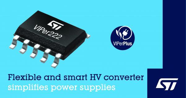 意法半导体推出灵活稳健的VIPer?控制器,简化智能设备电源设计