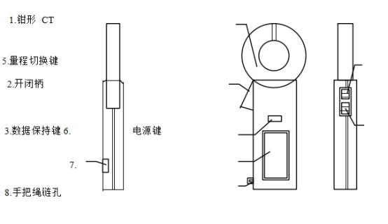 袖珍钳形电流表 M-210