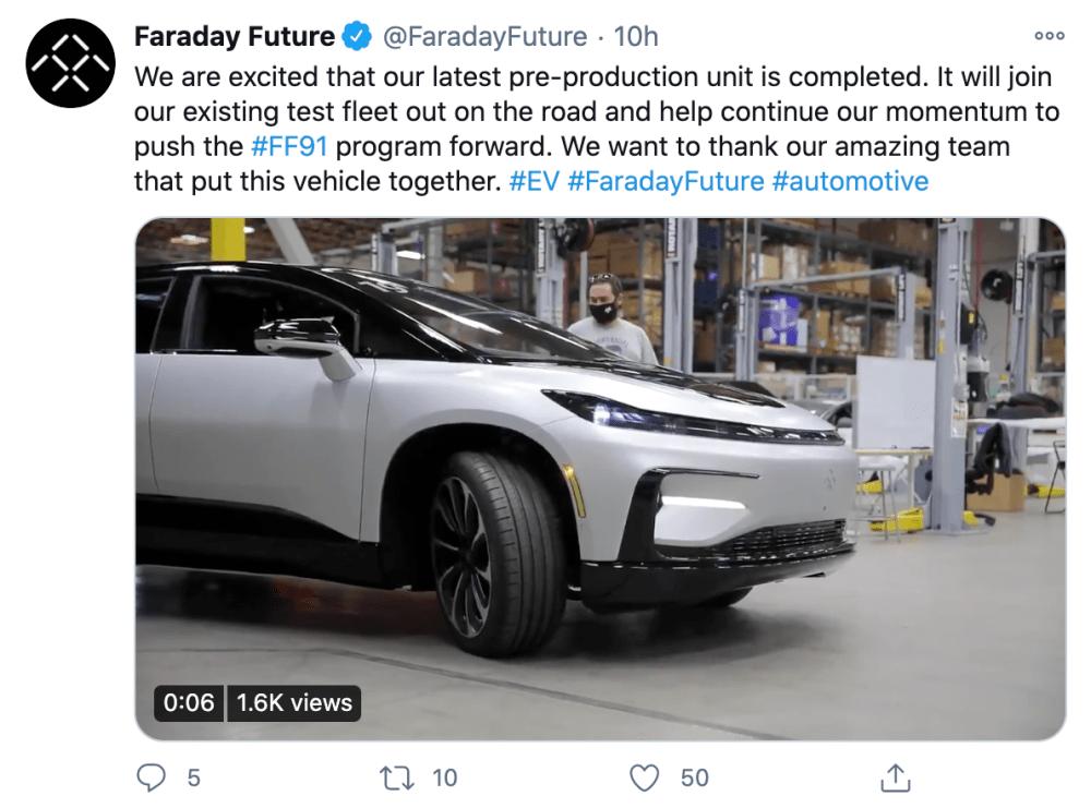 汽车产业周报 | 苹果拟在美国设厂造车;FF 91预量产车下线…
