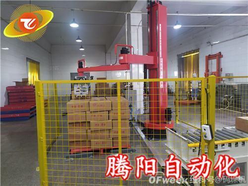 立柱机器人码垛机在食品饮料生产线的应用