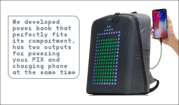 潮爆!这背包居然自带屏幕,背上它就是行走的表情包