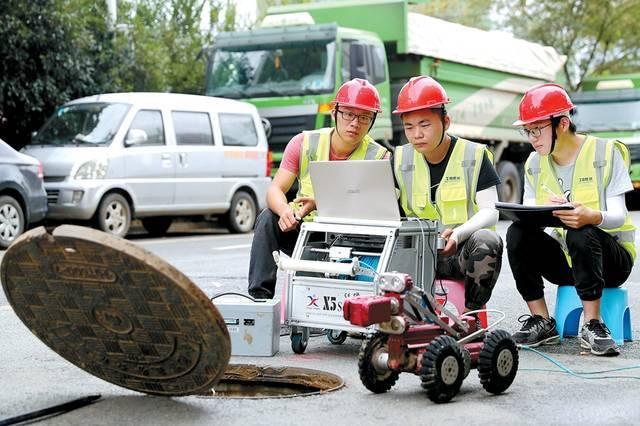 """管道机器人给地下管道做""""CT"""