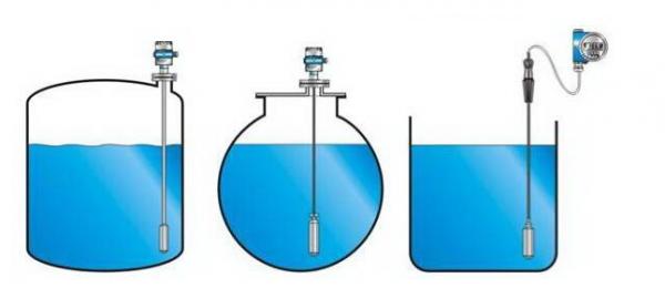 超声波液位传感器检测水箱液位高低状态