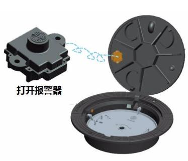振动传感器能够实时监测智能井盖状态