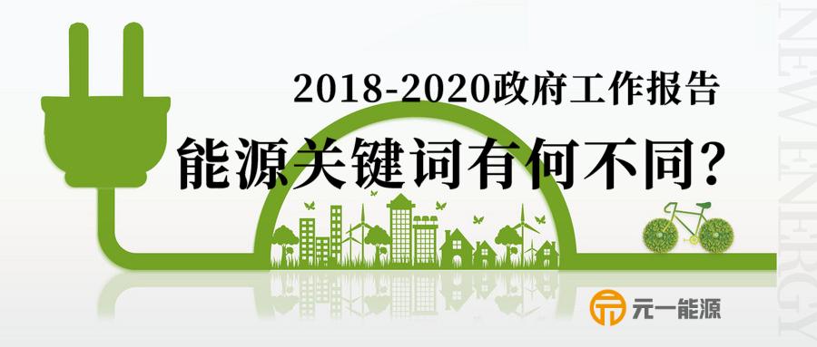 2018、2019、2020政府工作报告中的能源电力关键词有何不同?