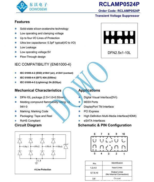 低电容TVS二极管阵列