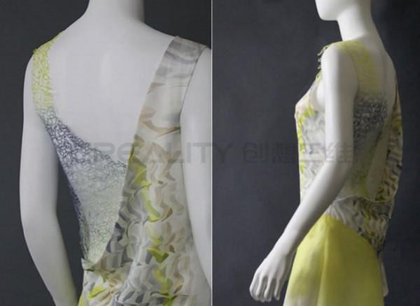 创想三维:研究员使用3D打印机制作花蕾丝连衣裙