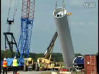 风电机组安装现场
