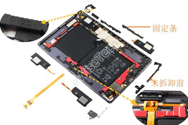eWisetech今日拆解四声道扬声器的华为MediaPad M6