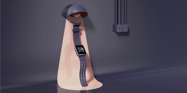 基于低功耗蓝牙传感器的智能手表可将用户的心率数据和活动指标同步发送到智能手机应用程序