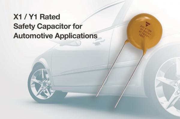 Vishay推出首款通过AEC-Q200认证,适用于Class X1 / Y1应用的陶瓷盘式电容器