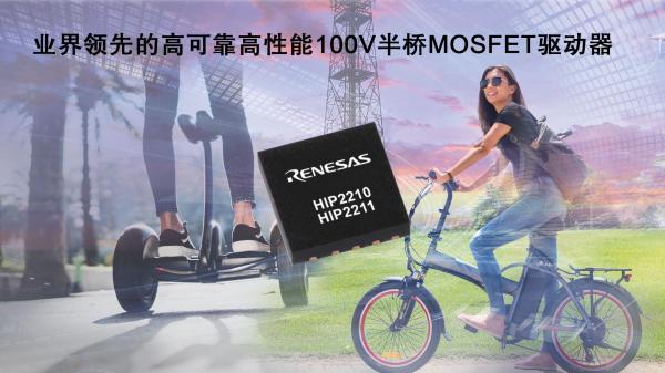 瑞萨电子推出高可靠高性能100V半桥MOSFET驱动器
