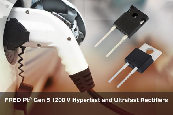 Vishay推出新款FRED Pt? 第5代1200 V Hyperfast和Ultrafast