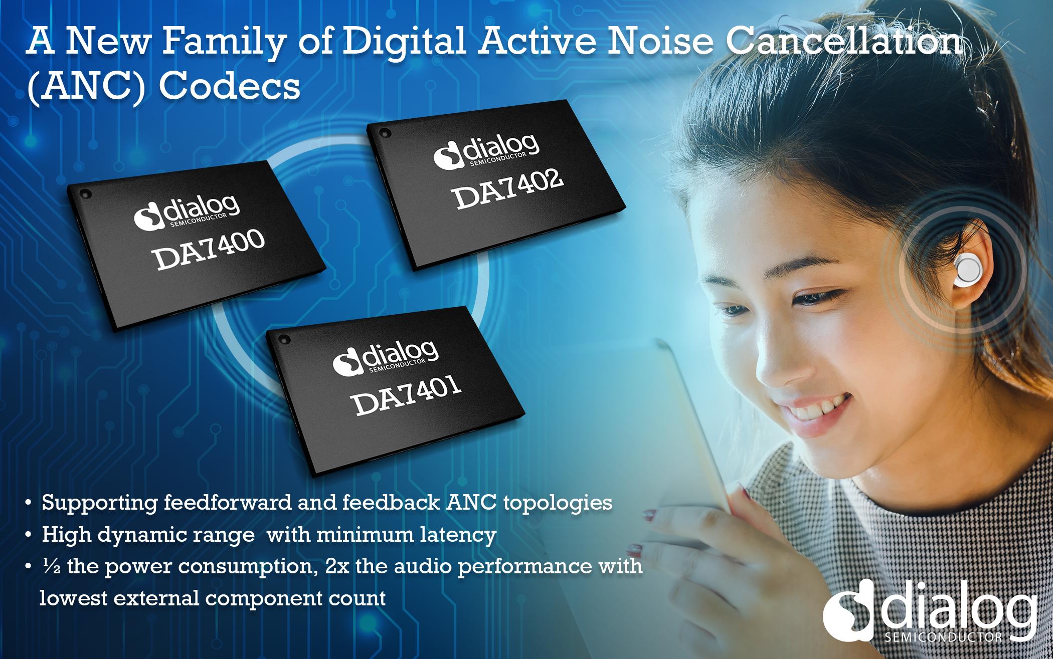 Dialog半导体公司推出具有突破性主动降噪性能的音频编解码器系列