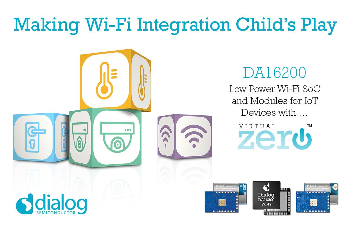 Dialog推出最新超低功耗Wi-Fi SoC,扩展IoT连接产品组合