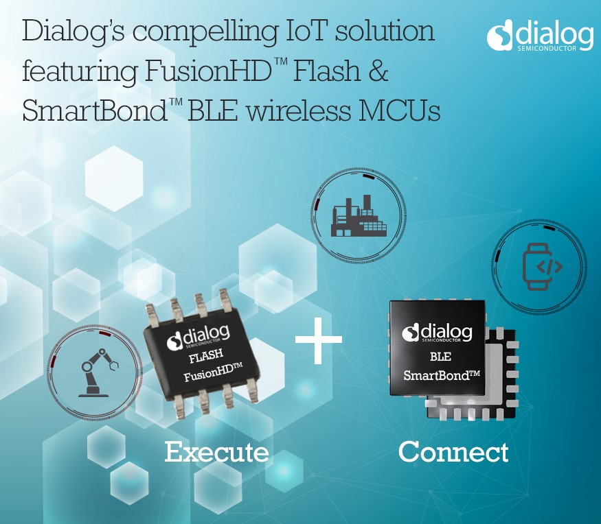 Dialog的FusionHD NOR闪存兼容并已在SmartBond BLE无线MCU平台上认证