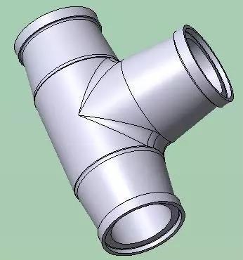 多次优化后的「三通管夹具方案」