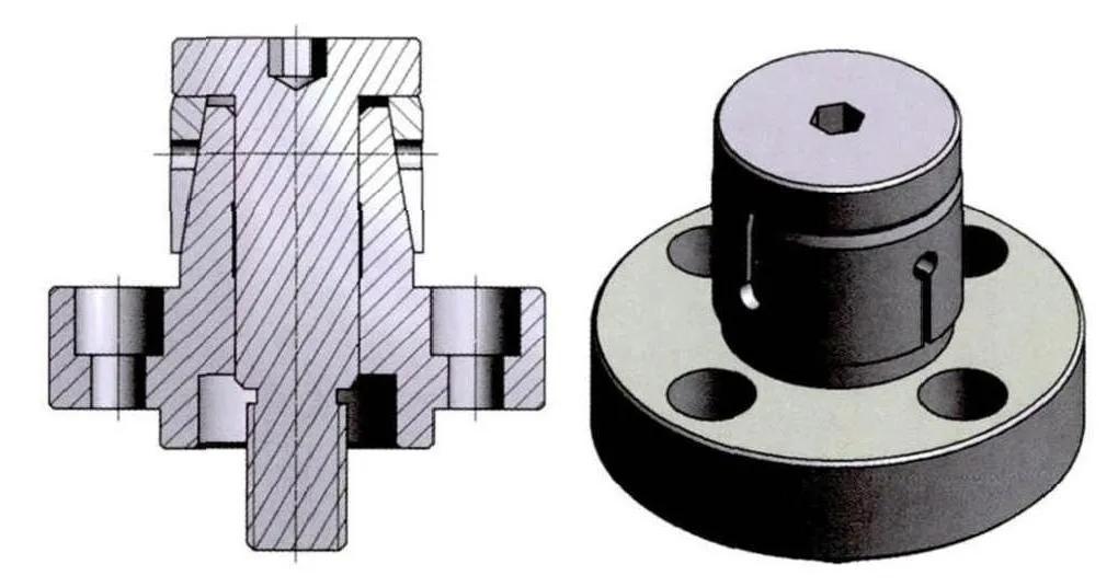变速箱零部件的涨套夹具夹持方案