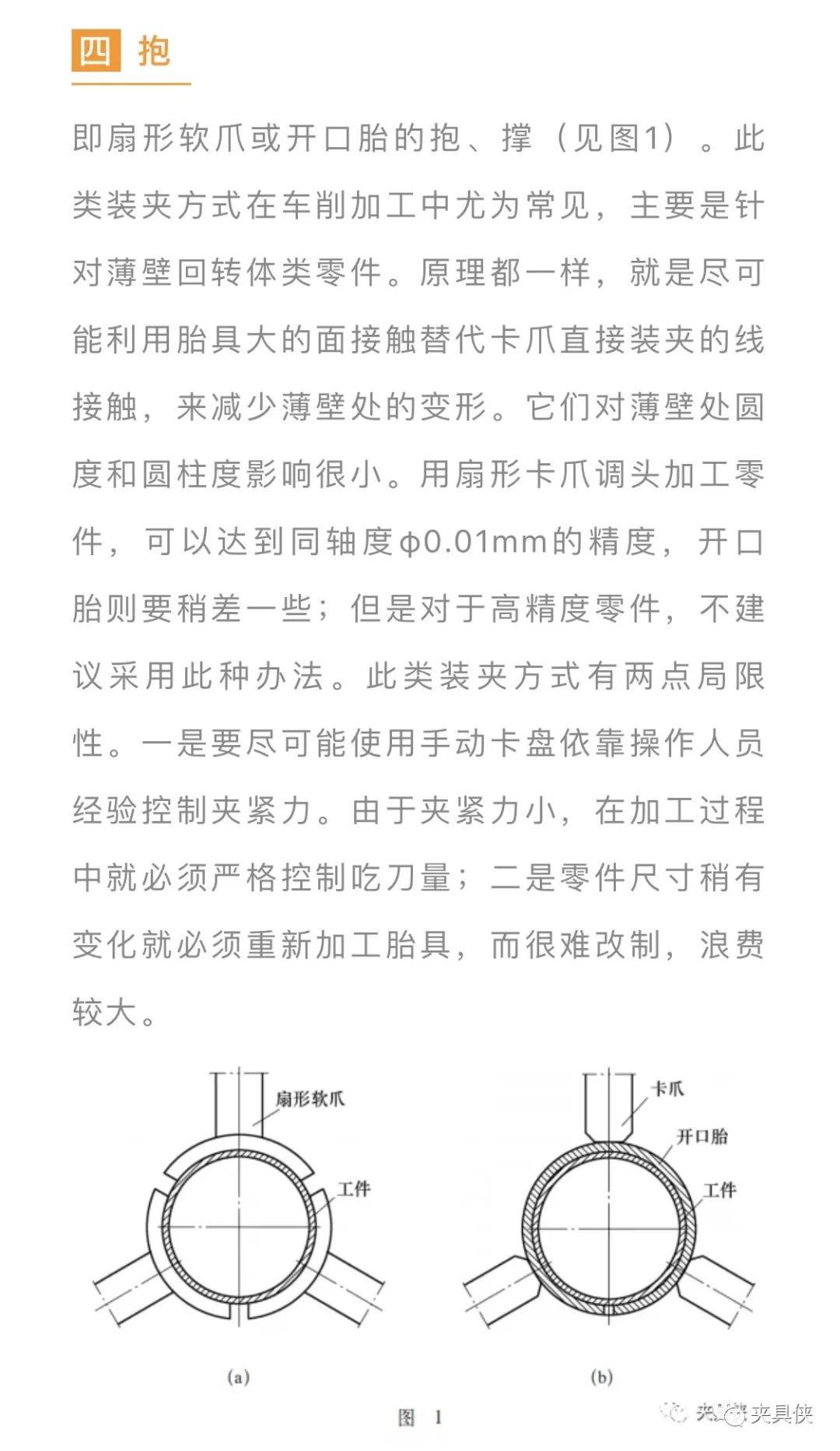 常见装夹方式对零件加工精度的影响