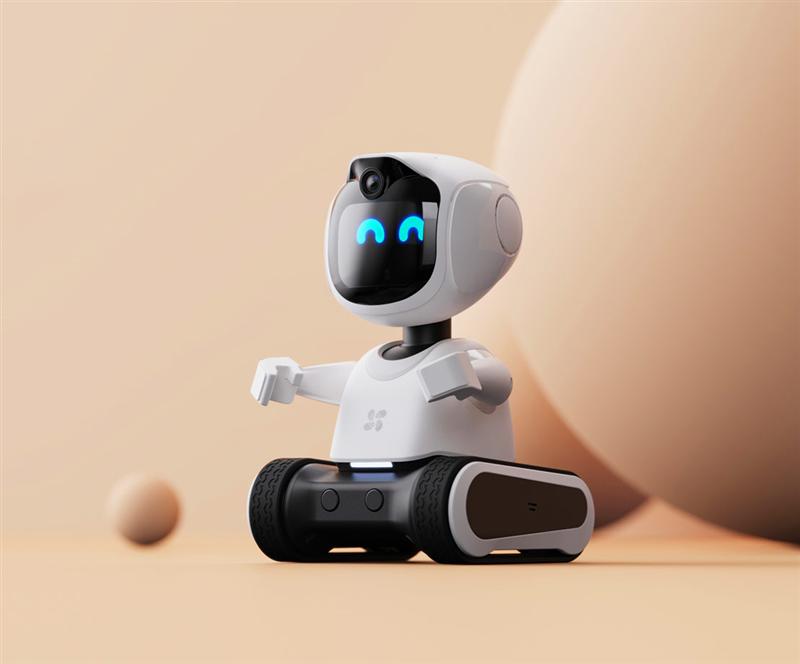 """家里多了个""""新成员""""!萤石儿童陪护机器人RK2 Pro评测:能跑会说 自带安防"""