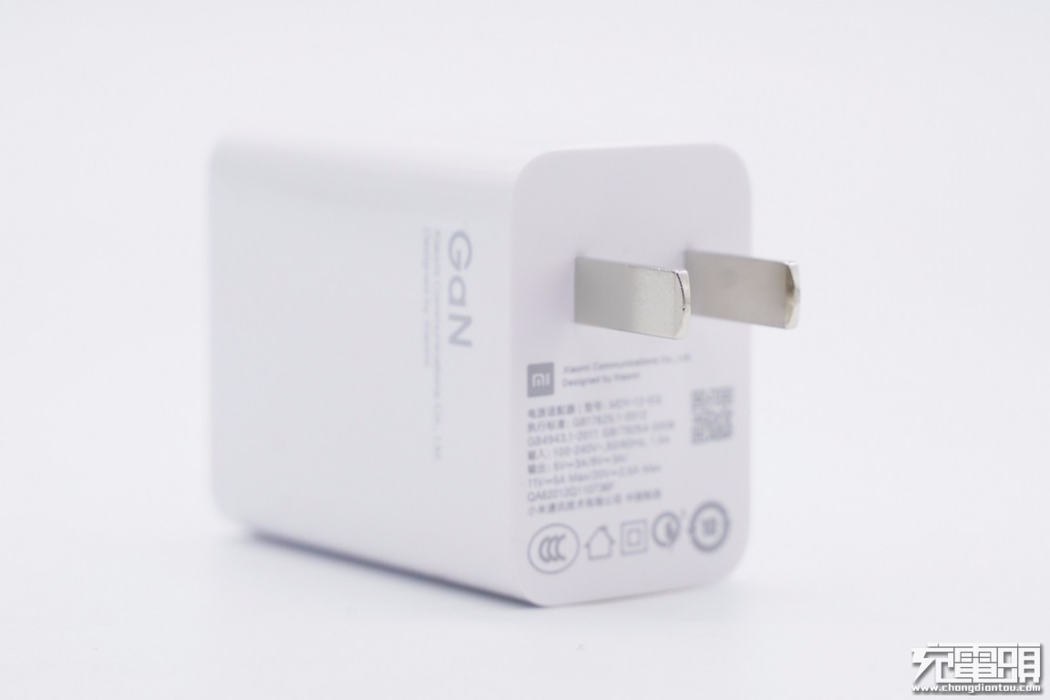 拆解报告:MI小米11原装55W氮化镓充电器MDY-12-EQ