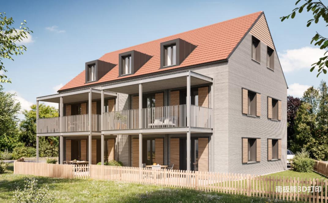 COBOD公司在德国3D打印一座三层公寓楼
