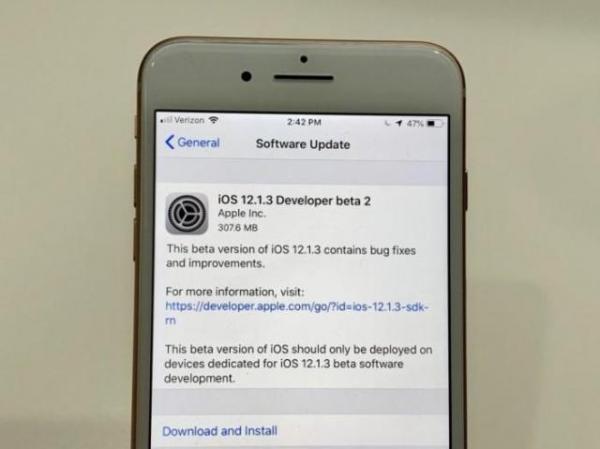 iOS 12.1.3测试版发布:速度提升明显!