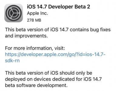 iOS 14.7 beta 2突然来袭,iOS 15期待值更高!