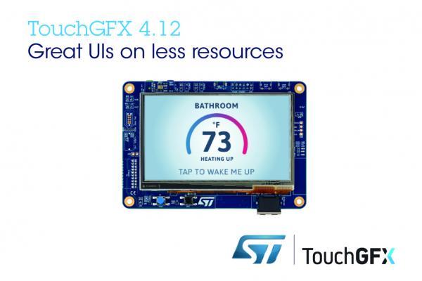 意法半导体更新TouchGFX软件包,提升用户界面视觉效果,减少对STM32内存和CPU的需求