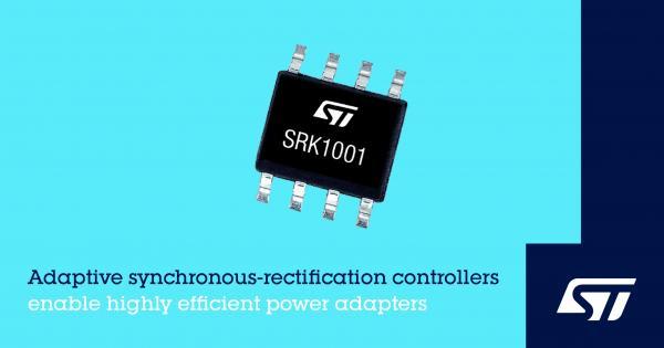 意法半导体发布创新的同步整流控制器,适用于高效率经济型电源适配器