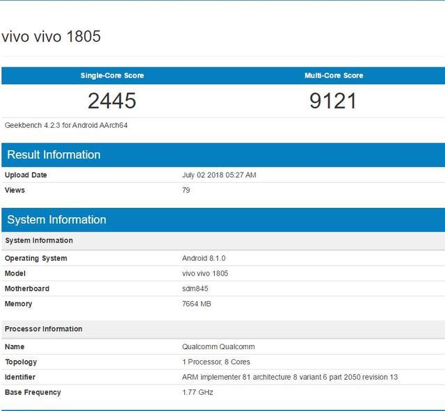 vivo Xplay 7跑分成绩曝光?8GB运存+骁龙845 真相出乎你的预料