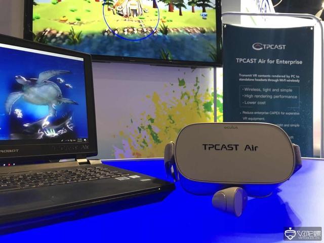 """想要了解更多的VR游戏资讯 一定要关注VR陀螺!  今日,TPCAST在CES2019展会上推出了TPCAST Air企业版,这是一款面向企业多人VR行业应用以及线下大空间沉浸式娱乐 (LBE)的无线解决方案。据TPCAST表示,TPCAST Air企业版的目标是将PC渲染的VR内容通过Wi-Fi无线传输显示到Oculus Go等VR一体机上。   TPCAST Air企业版通过维持高画质和低延迟来实现最佳的用户体验。新推出的解决方案是基于TPCAST的实时编解码技术(RTCodec和RTCIP) ,利用现有的PC以及GPU 进行渲染及编码压缩计算。  TPCAST Air企业版适用于房地产、家居装修/室内设计、教育等行业应用。未来还会适配至Oculus Quest,可用于大空间多人无背包自由行走解决方案。TPCAST Air将使得大空间沉浸式娱乐和VR不再需要背包电脑来实现移动VR,同时减少硬件成本和运营投入。   TPCAST Air解决方案的存在六大优势:  1) 降低了企业VR设备的购置成本  TPCAST Air企业版无线解决方案降低了成本。因为它不需要较高成本的PC VR头盔,仅使用便捷的VR一体机。另一方面,它不需要采用高成本和既大且重的背包电脑解决方案。  2) 安装方便、佩戴轻巧,降低维护成本  TPCAST Air企业版减少了安装的复杂性,基于一个简单的软件安装过程,避免了硬件安装和电缆更换。用户只需佩戴轻便的VR一体机。  3) 降低VR内容开发成本  TPCAST Air企业版充分利用Unreal和Unity等引擎的渲染能力,开发者无须为了将PC VR内容适配至较低渲染能力的VR一体机而做牺牲画面效果的""""优化""""工作。  4) 利用PC一流的图形性能  ● 高性能PC所拥有的高端的CPU和 GPU  ● VR一体机的无线、轻便、移动性  5) PC VR内容适配简单  运行于SteamVR的内容,均可无缝运行于TPCAST Air企业版系统上。  6) 企业级整体解决方案  TPCAST Air企业版包含企业VR管理套件,可让系统管理者简化多用户的管理工作、优化Wi-Fi信道等。为企业提供优化、稳定的无线VR体验。  TPCAST传送科技CEO刘述尧表示:""""TPCAST Air实现了我们之前提出的TPCAST 2.0愿景---在近、中、远距离均可实现无线VR传输。TPCAST Air企业版整合了一体机的轻盈和台式机独立显卡的强劲性能,打破了轻巧移动性与高性能渲染不可兼得的悖论。"""""""
