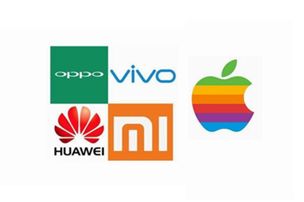 中国智能手机出货量下滑,国产四强与苹果竞争加剧