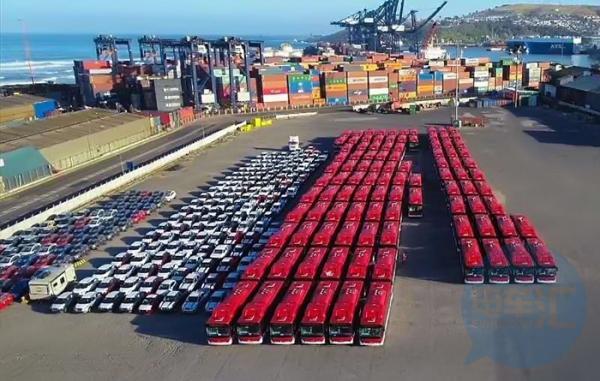 国内|100台纯电动大巴交付智利,比亚迪加速杨帆出海