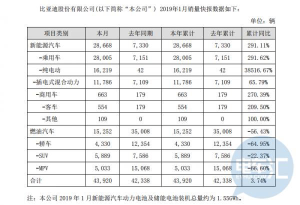 """1月新能源市场同增138%达9.6万辆,比亚迪""""乘商""""全线拉升"""