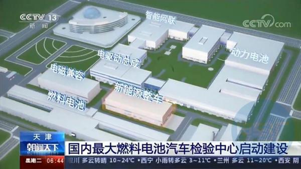 总投资19.9亿元,国内最大燃料电池汽车检验中心在天津启动建设