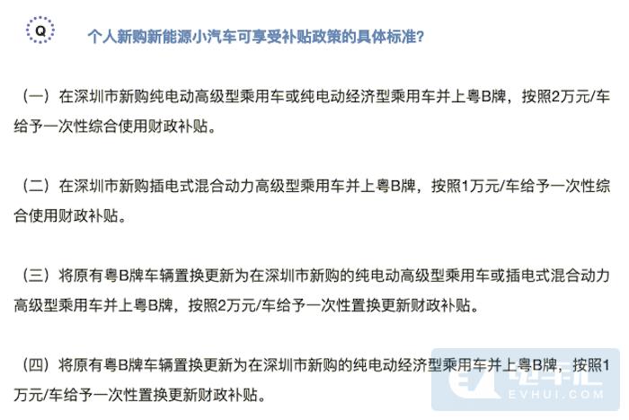 深圳最高给4万元新能源汽车补贴,只有这些车型符合要求