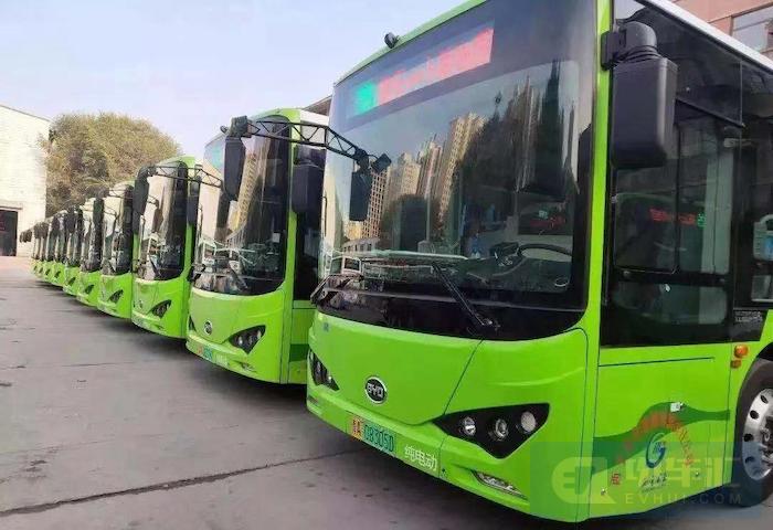 比亚迪投放了全球首批大规模商业化运营的纯电动客车