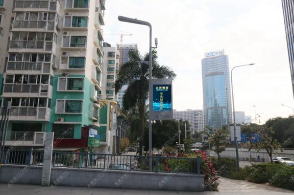 LED灯杆屏怎样通过数字化服务于智慧城市的?